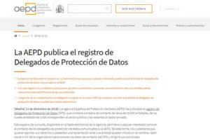 Registro de Delegados de Protección de Datos